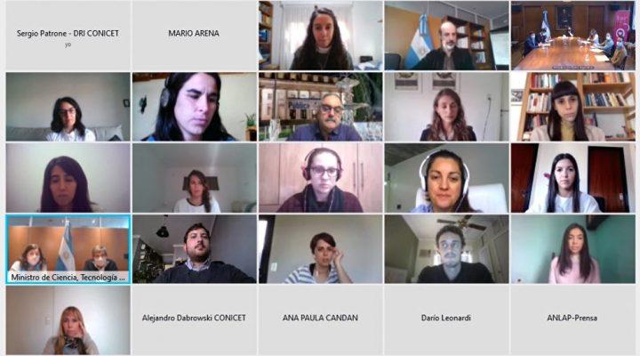 Salvarezza, Franchi y Vizzotti recibieron a las primeras becarias CONICET-ANLAP