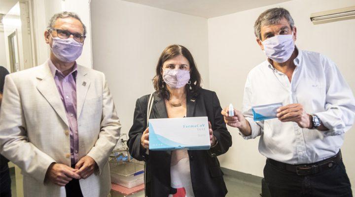 Franchi visitó la cooperativa que producirá y comercializará el primer test serológico rápido argentino de COVID-19