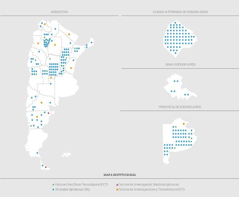Mapa CONICET
